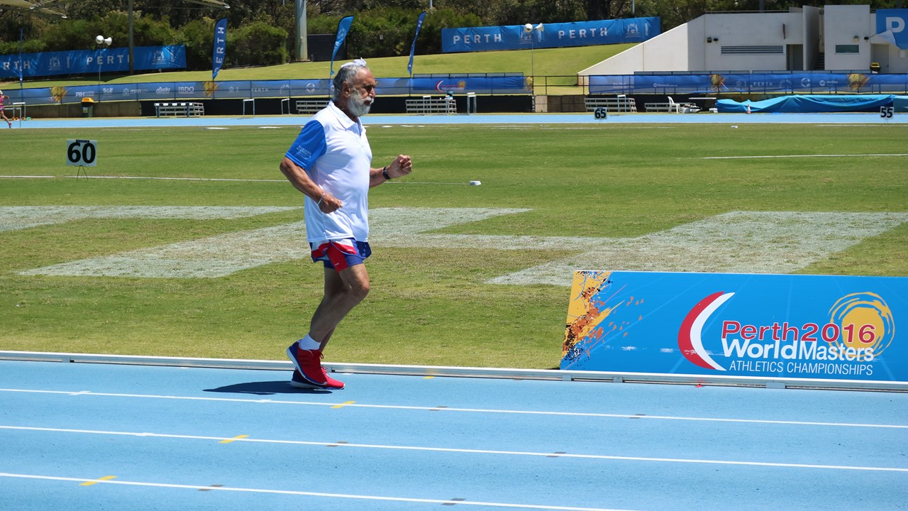 Athlete Dalbir training for sprint