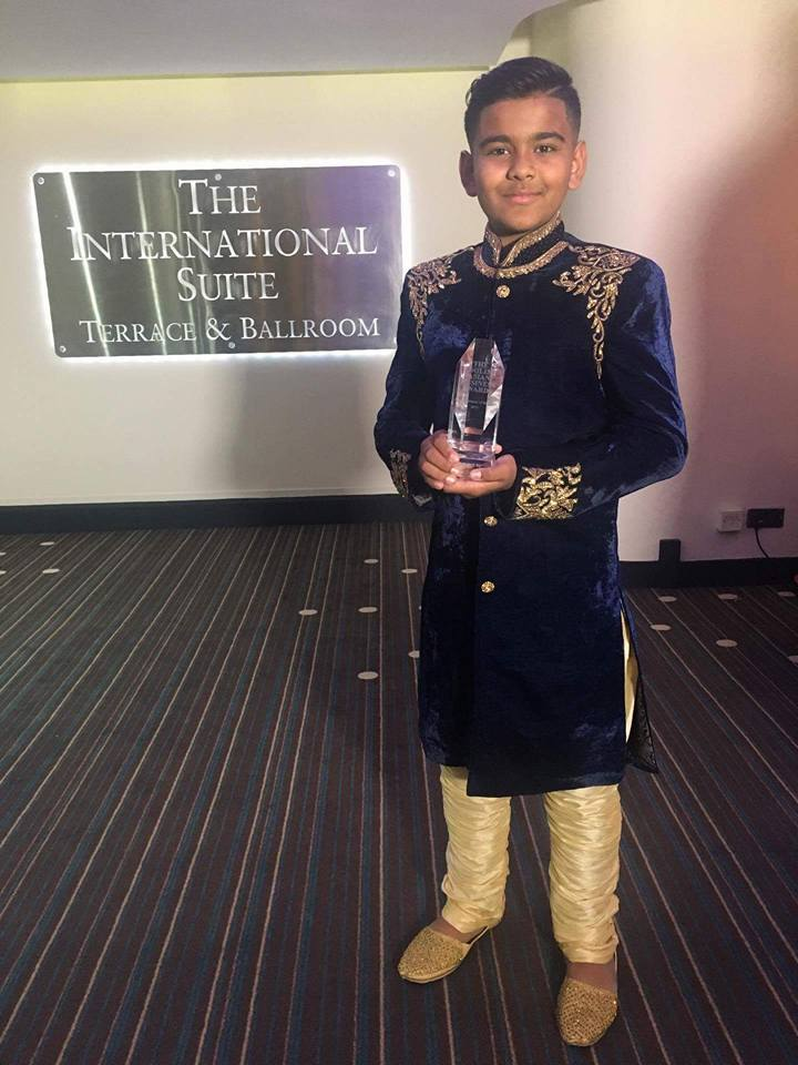 Abz with Young Entrepreneur of the Year award
