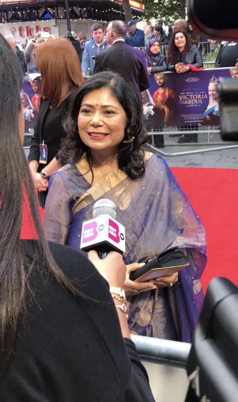 BritAsia TV speaks to Shrabani Basu at the red carpet premiere of 'Victoria & Abdul'