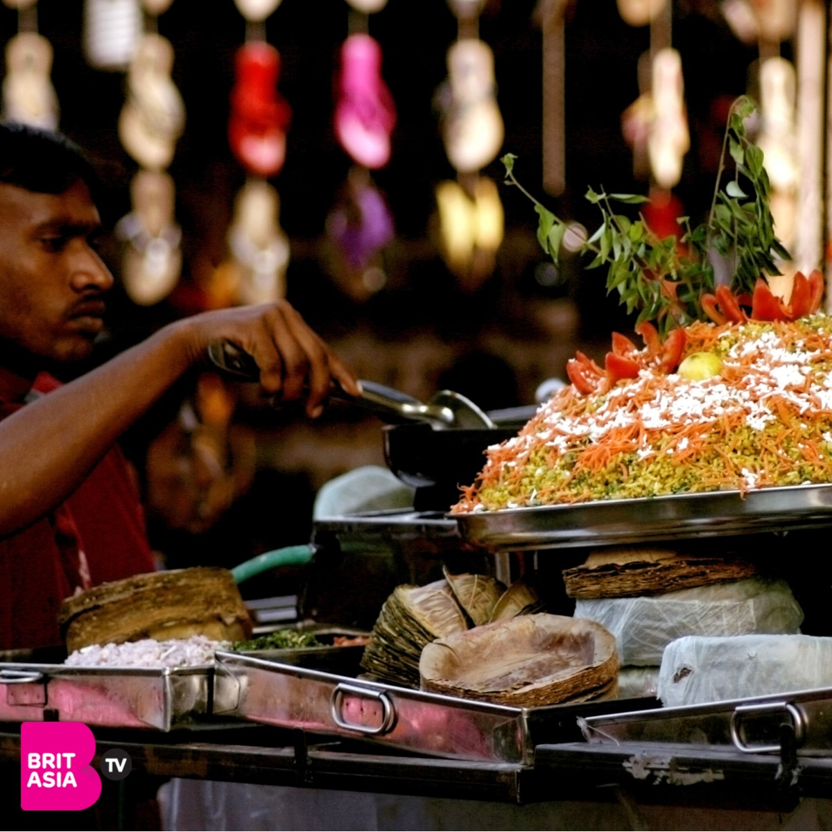 indian food being made in the streets