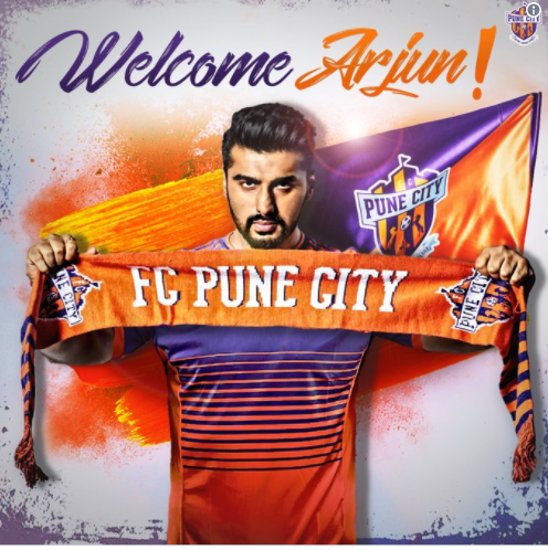 BOLLYWOOD ACTOR ARJUN KAPOOR BECOMES NEW CO-OWNER OF FC PUNE CITY FOOTBALL CLUB