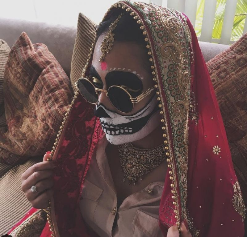 Bollywood bridal skeleton look