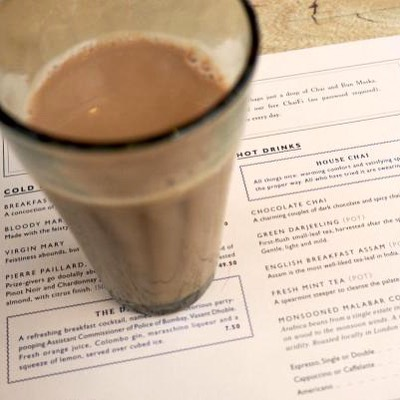 Chai in Dishoom