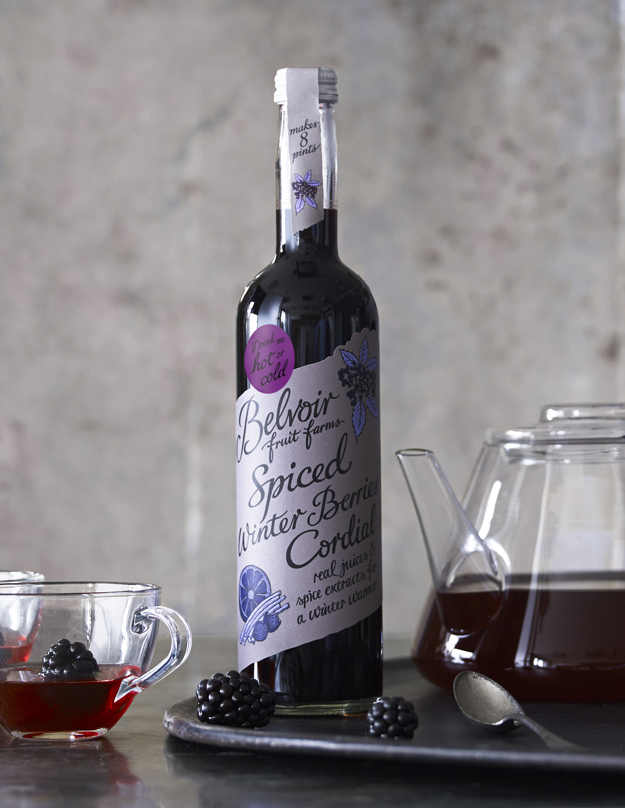 Spiced Winter Berries Cordial by Belvoir - NON-ALCOHOLIC WINTER WARMER DRINKS
