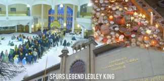 SPURS LEGEND LEDLEY KING CELEBRATES DIWALI