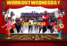 #WORKOUTWEDNESDAY WITH LIONS OF PUNJAB