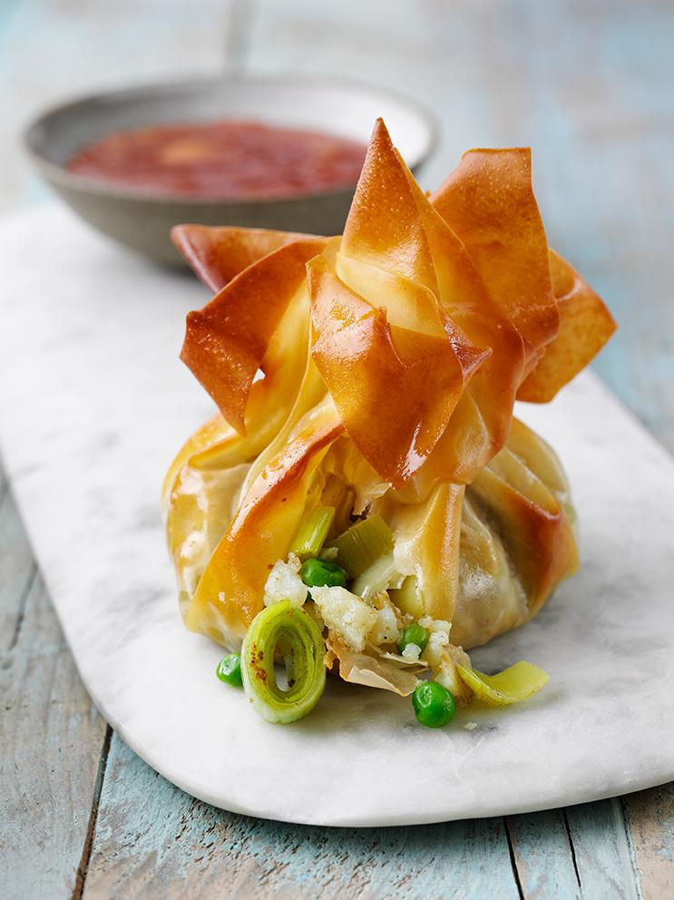 Bombay Leek & Potato Filo Parcels