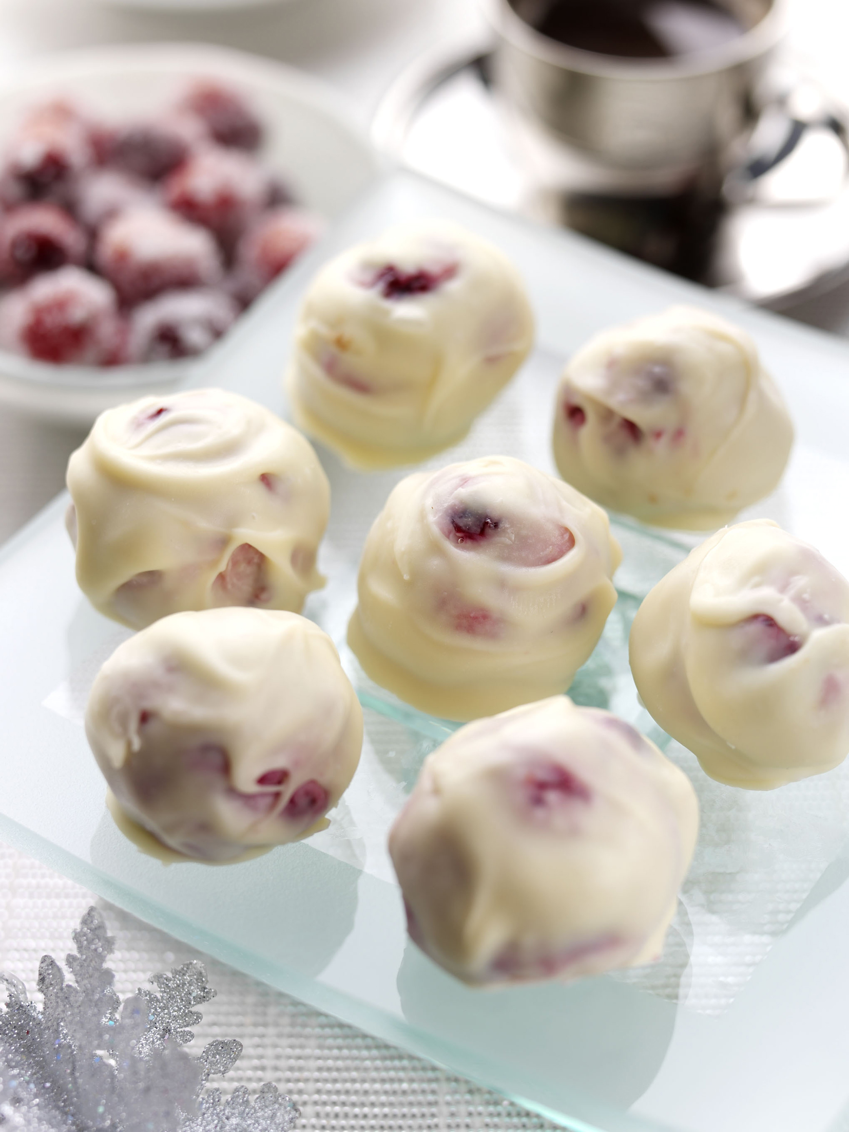 White Chocolate and BerryWorld Cranberry Truffles