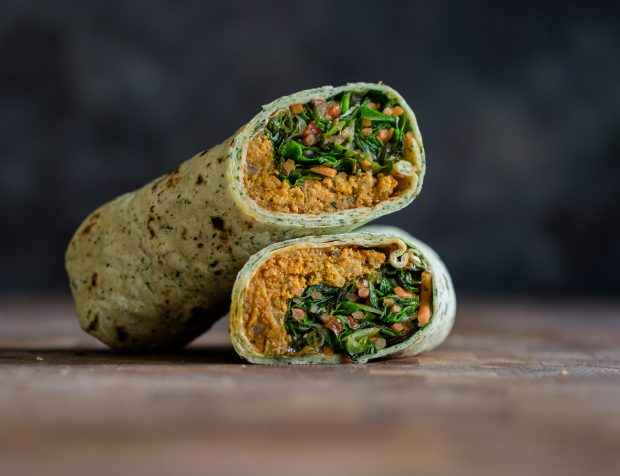 Sweet potato pakora wrap, 270g, £3
