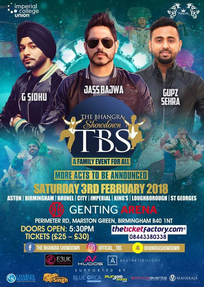 THE BHANGRA SHOWDOWN 2018 performers