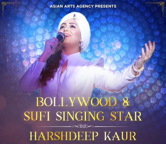BOLLYWOOD AND SUFI SINGER HARSHDEEP KAUR COMES TO THE UK