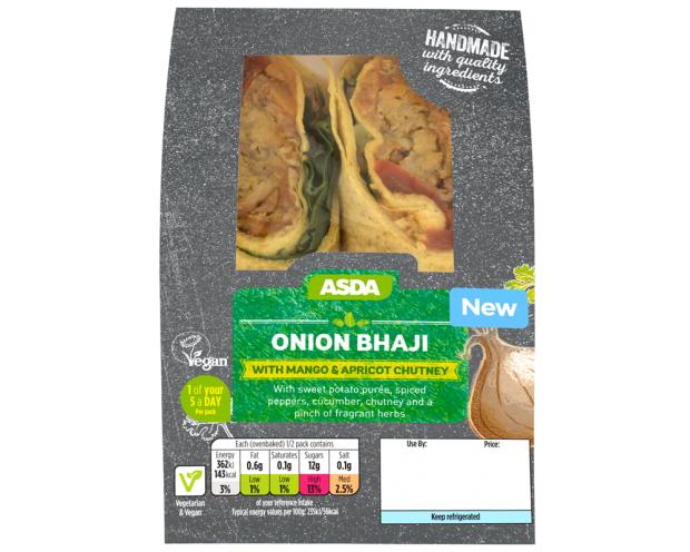 Onion Bhaji Wrap