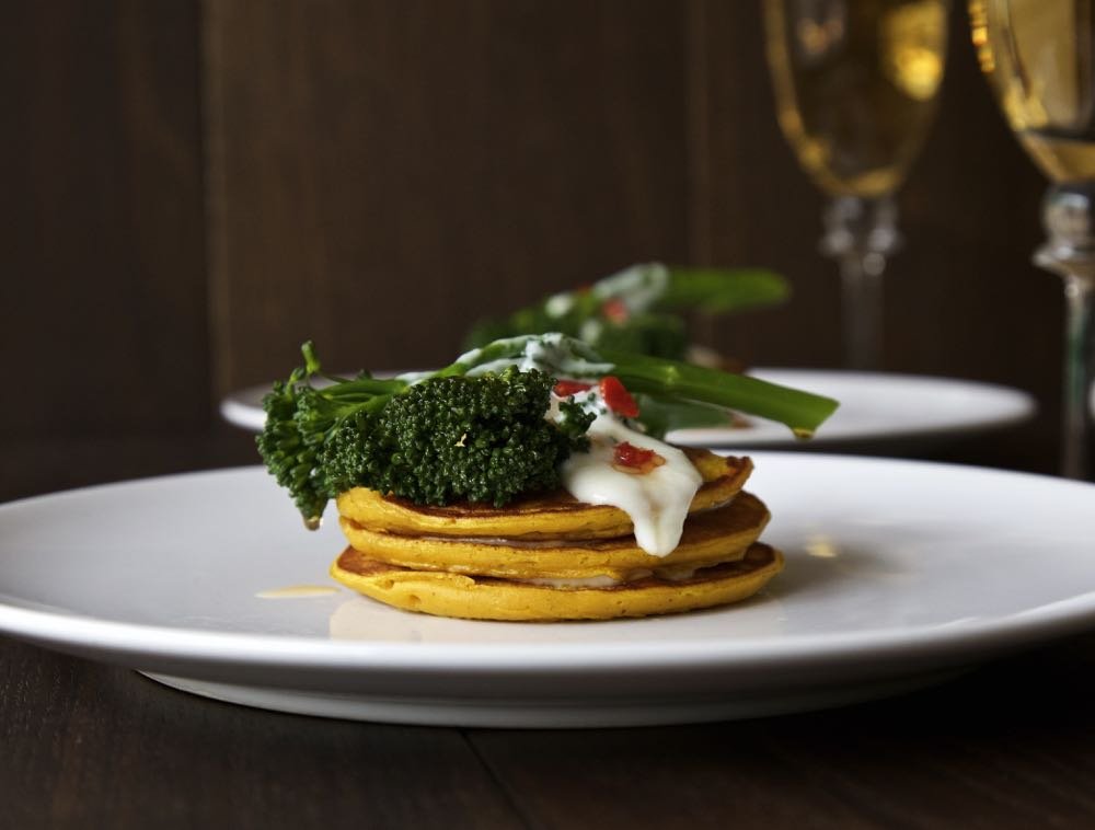 Pumpkin Pancakes with Chilli-Fried Tenderstem®