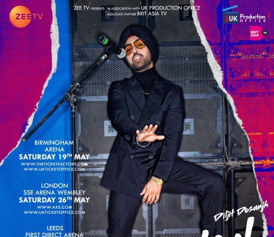 DILJIT DOSANJH SET TO TOUR THE UK