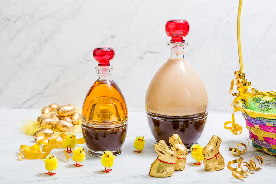 Chocolate Cream with Old Calvados in the 2-in 1 Egg-Shaped Bottle