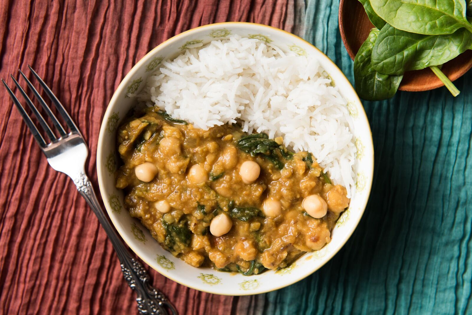 Red Lentil Daal with Spinach