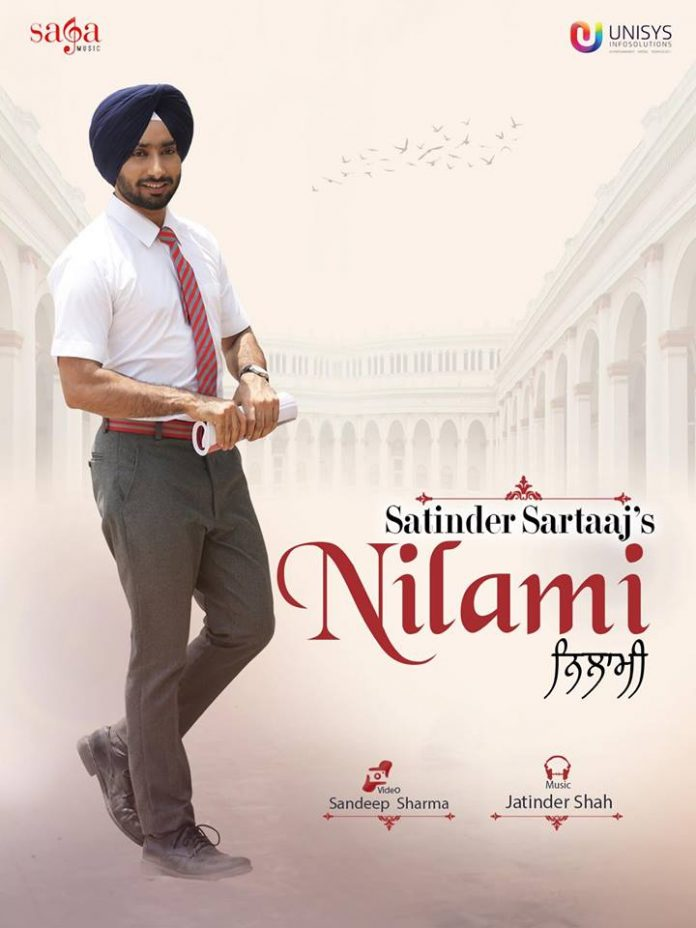 SATINDER SARTAAJ RELEASES POSTER FOR UPCOMING TRACK 'NILAMI'