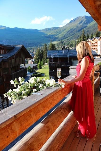 Binny at the lodge