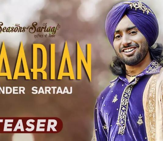 SATINDER SARTAAJ SHARES TEASER FOR UPCOMING SINGLE 'UDAARIAN'