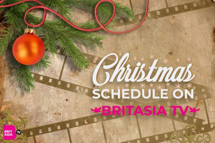 CHRISTMAS SCHEDULE ON BRITASIA TV