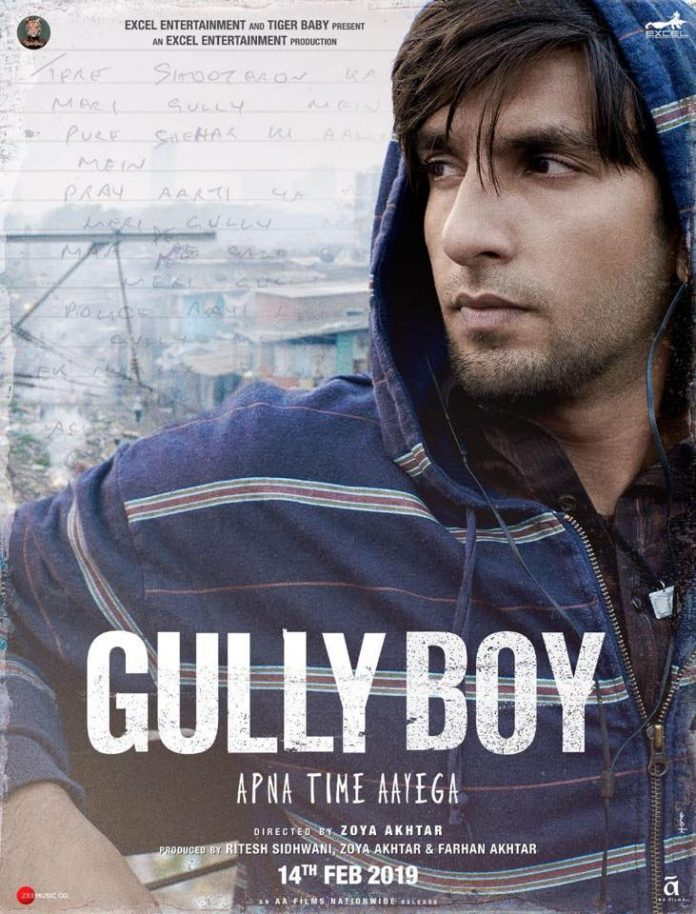RANVEER SINGH SHARES POSTER FOR 'GULLY BOY'