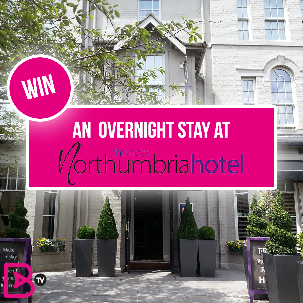win an overnight stay at the northumbria hotel