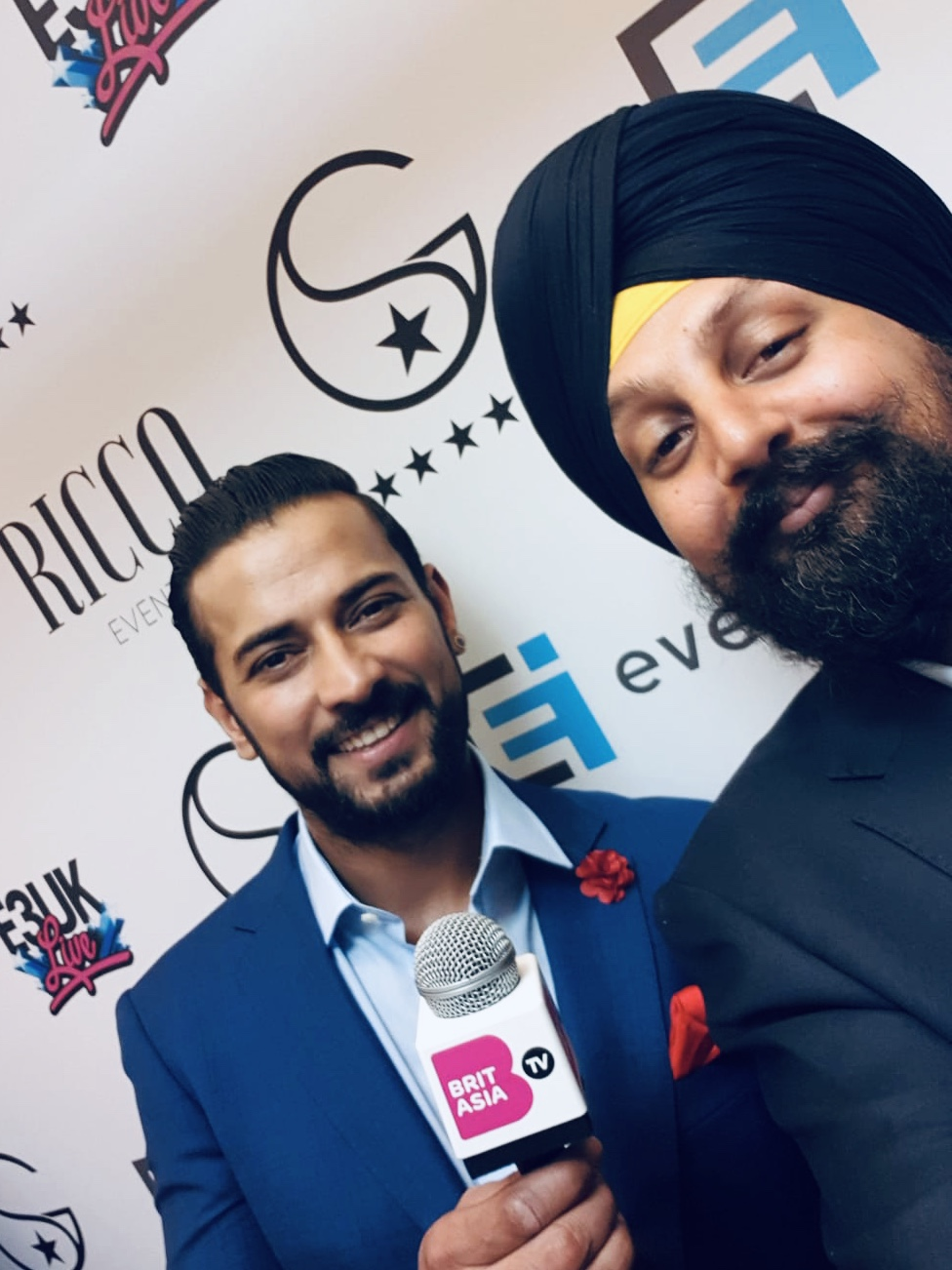 Garry Sandhu with CEO of BritAsia TV, Tony Shergill
