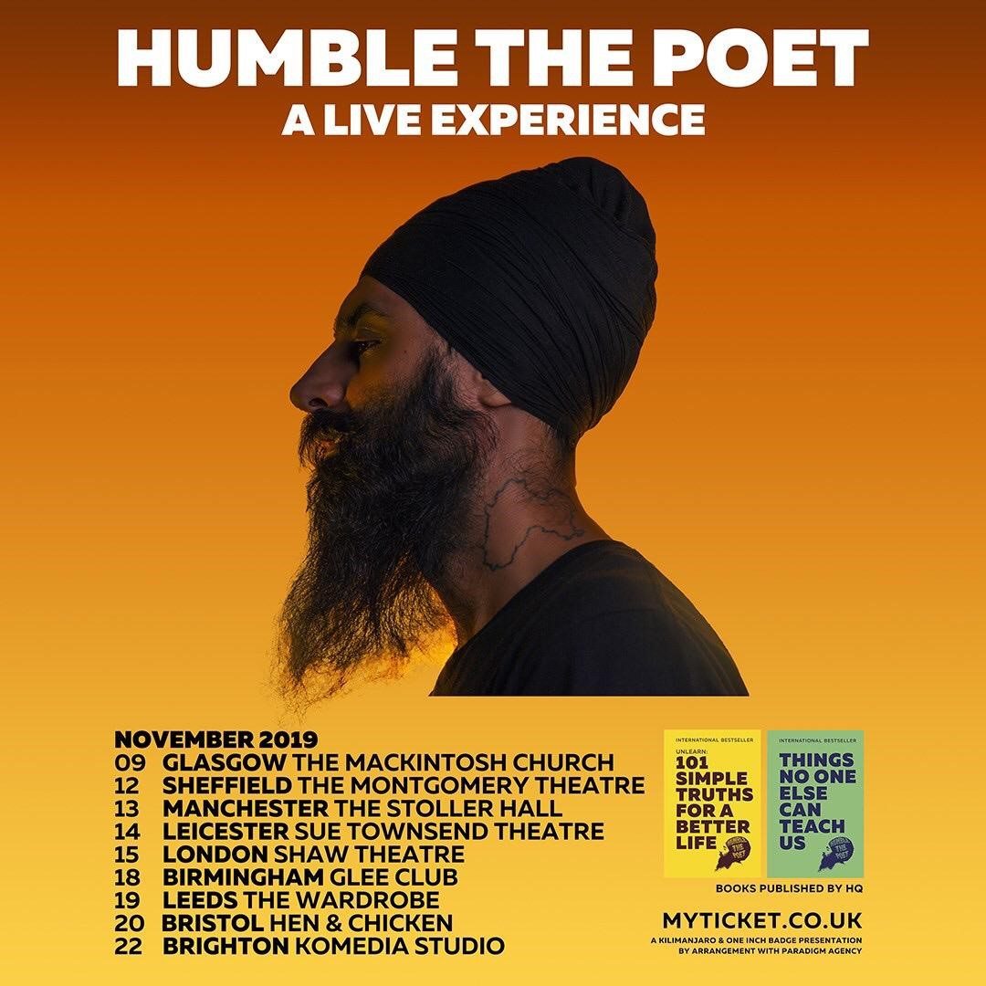 Humble Poet: HUMBLE THE POET ANNOUNCES HIS UK TOUR