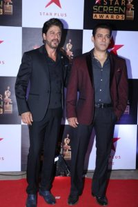 Mumbai: Actors Shah Rukh Khan and Salman Khan during the 23rd Annual Star Screen Awards 2016 in Mumbai, on Dec 4, 2016. (Photo: IANS)