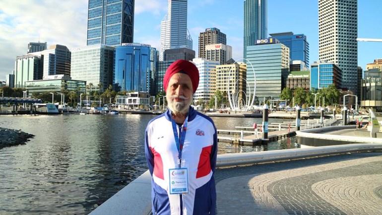 Dalbir Singh Deol sprinting