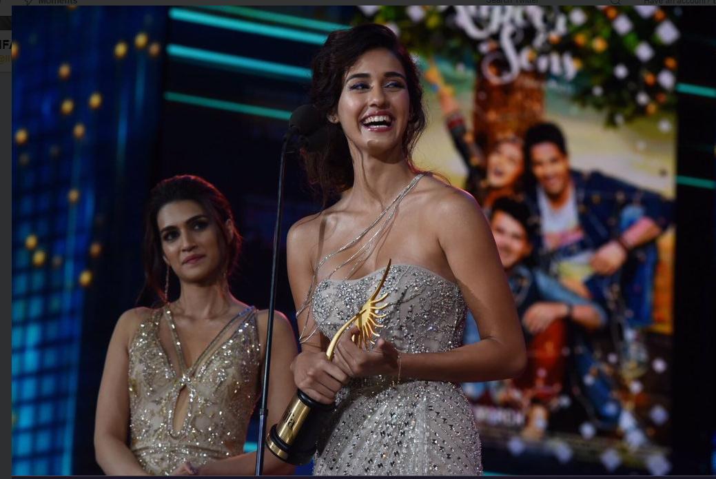Actress picking up awards