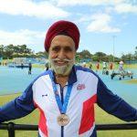 Dalbir Singh Deol with bronze medal