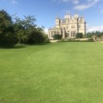 Garden view of Stoke Rochford Hall