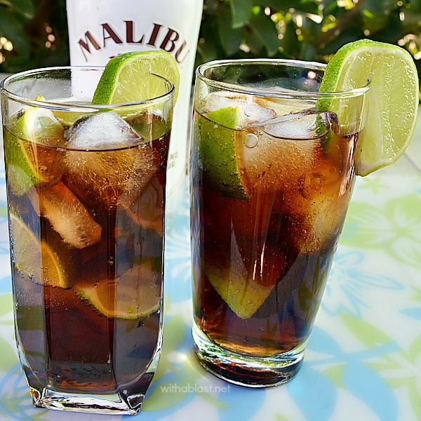 Malibu and coke