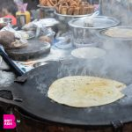 Indian food being cooked