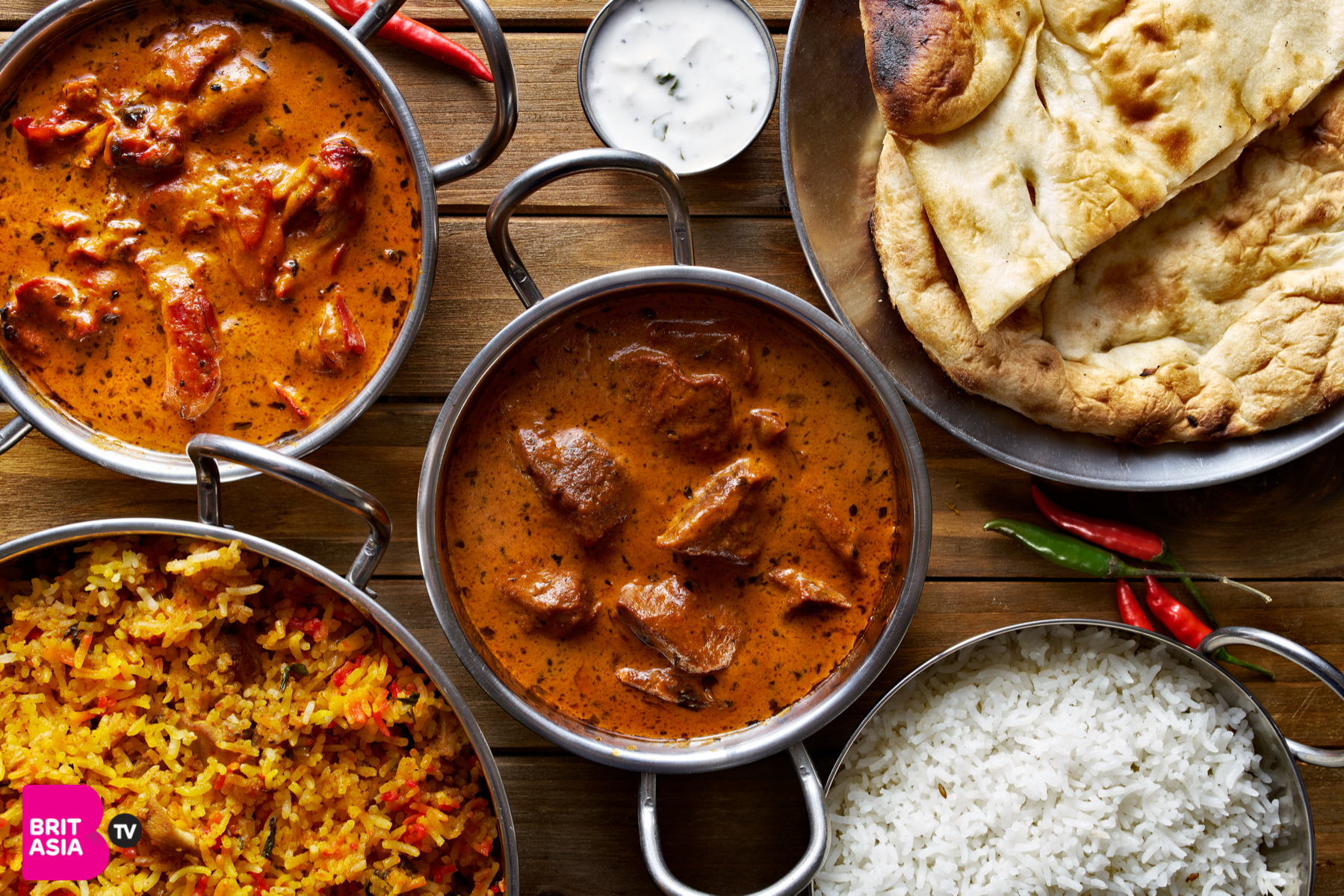 assorted curry dishes