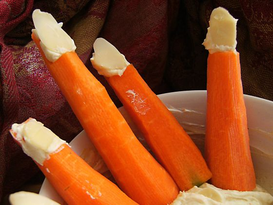 Halloween party carrot fingers