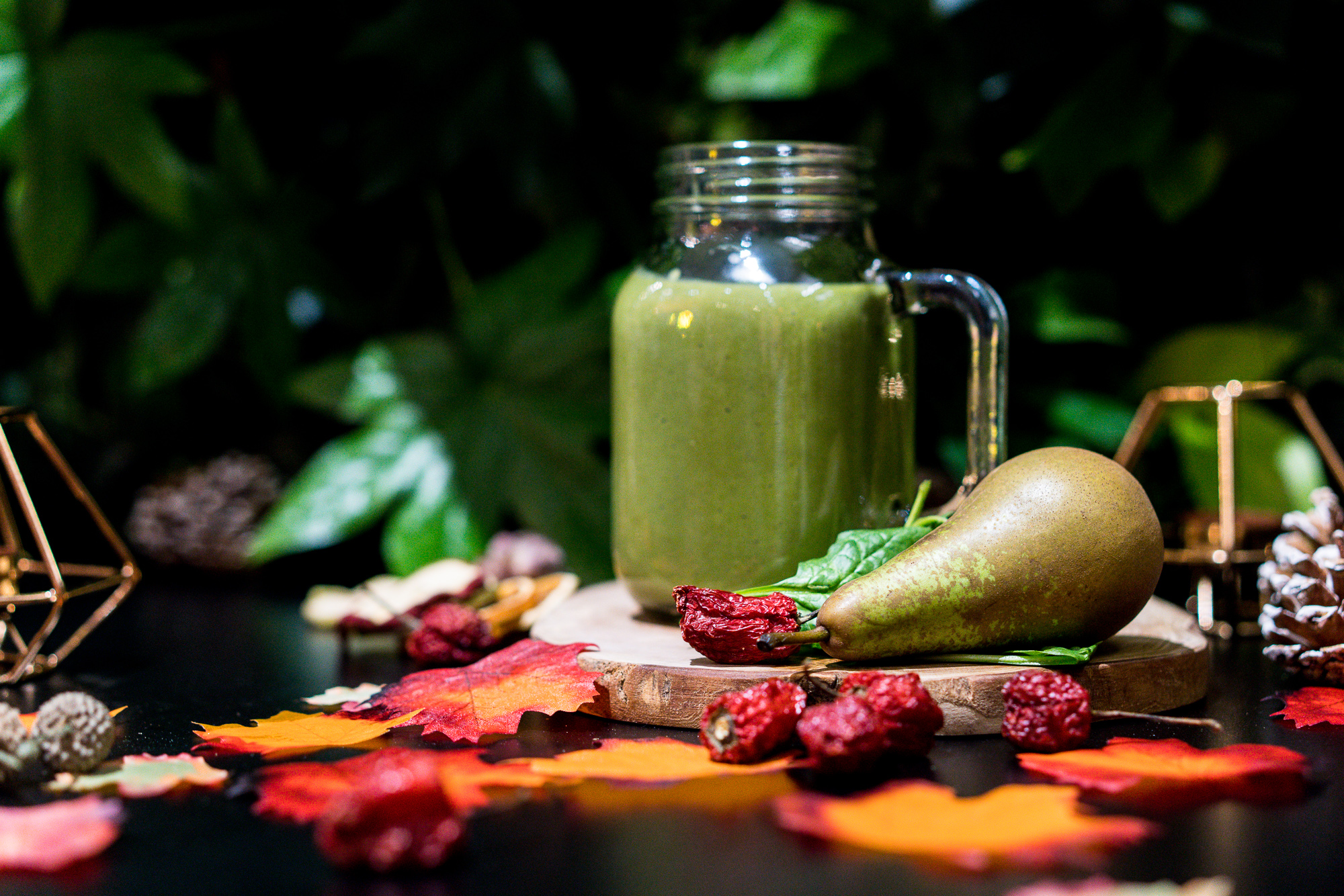 Warm Pear and Spinach Smoothie