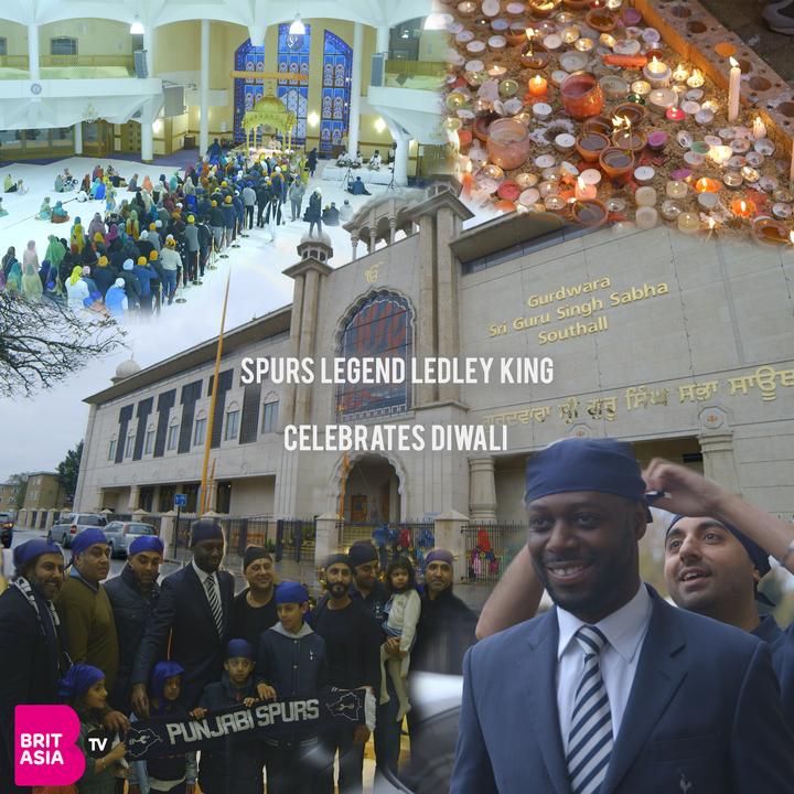 SPURS LEGEND LEDLEY KING CELEBRATES DIWALI