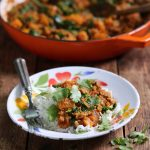 Lamb squash spinach curry