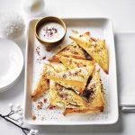 Mushroom & Chestnut Samosas with Tahini Dip