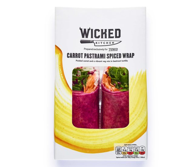 Carrot pastrami-spiced wrap, 270g, £3
