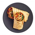 Spicy frijoles wrap, 250g, £3