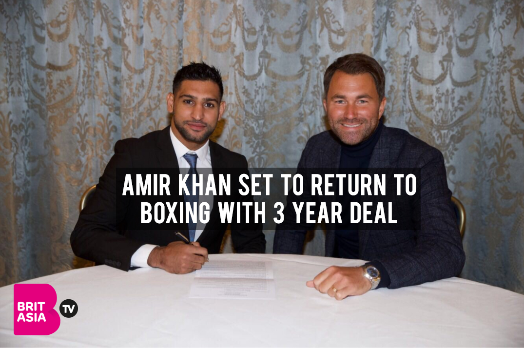 AMIR KHAN SET TO RETURN TO BOXING WITH 3 YEAR DEAL