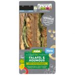 Falafel and Spiced Houmas Sandwich,