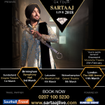 SATINDER SARTAAJ: THE BLACK PRINCE MAHARAJA TOUR 2018
