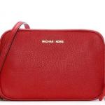 Michael KorsGinny Bright Red Tumbled Leather Camera Bag