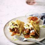 Chicken Tikka Pancakes with Mango Chutney