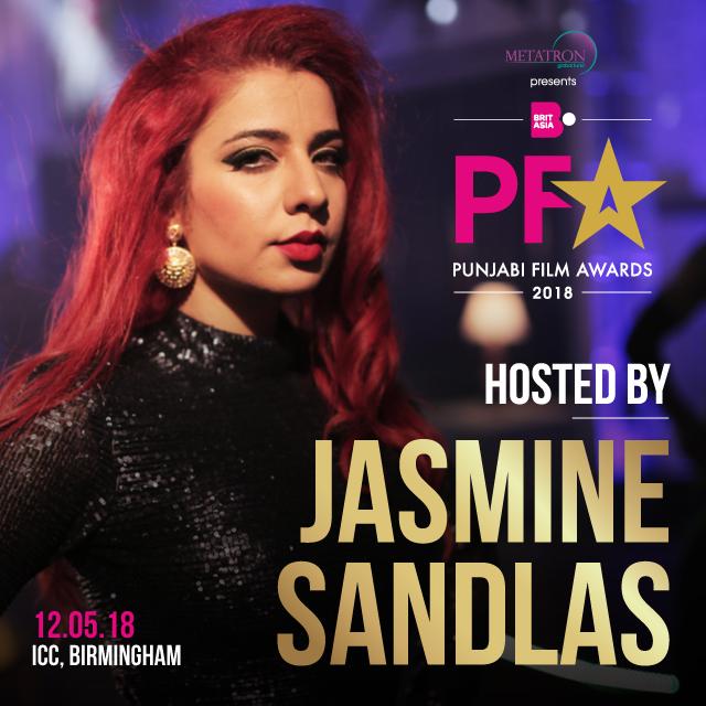 JASMINE SANDLAS TO HOST PUNJABI FILM AWARDS 2018