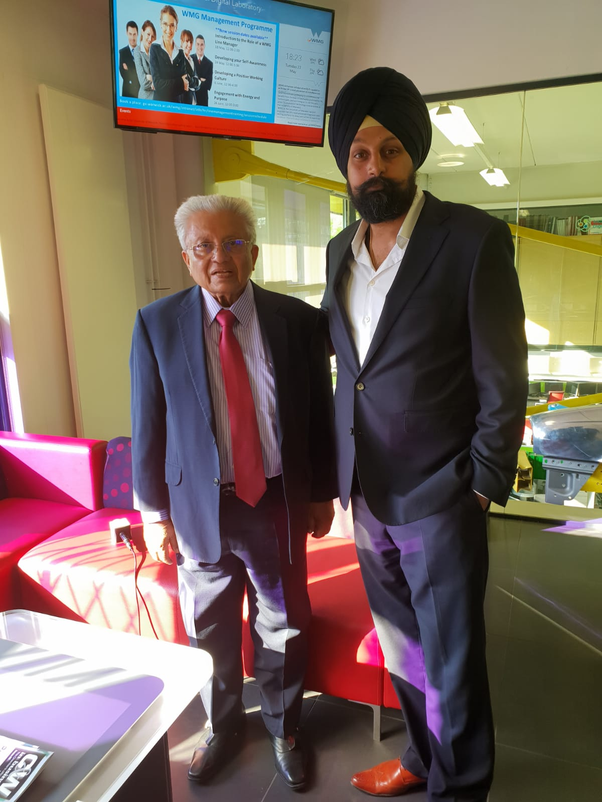 CEO of BritAsia TV, Tony Shergill, with Lord Bhattacharya